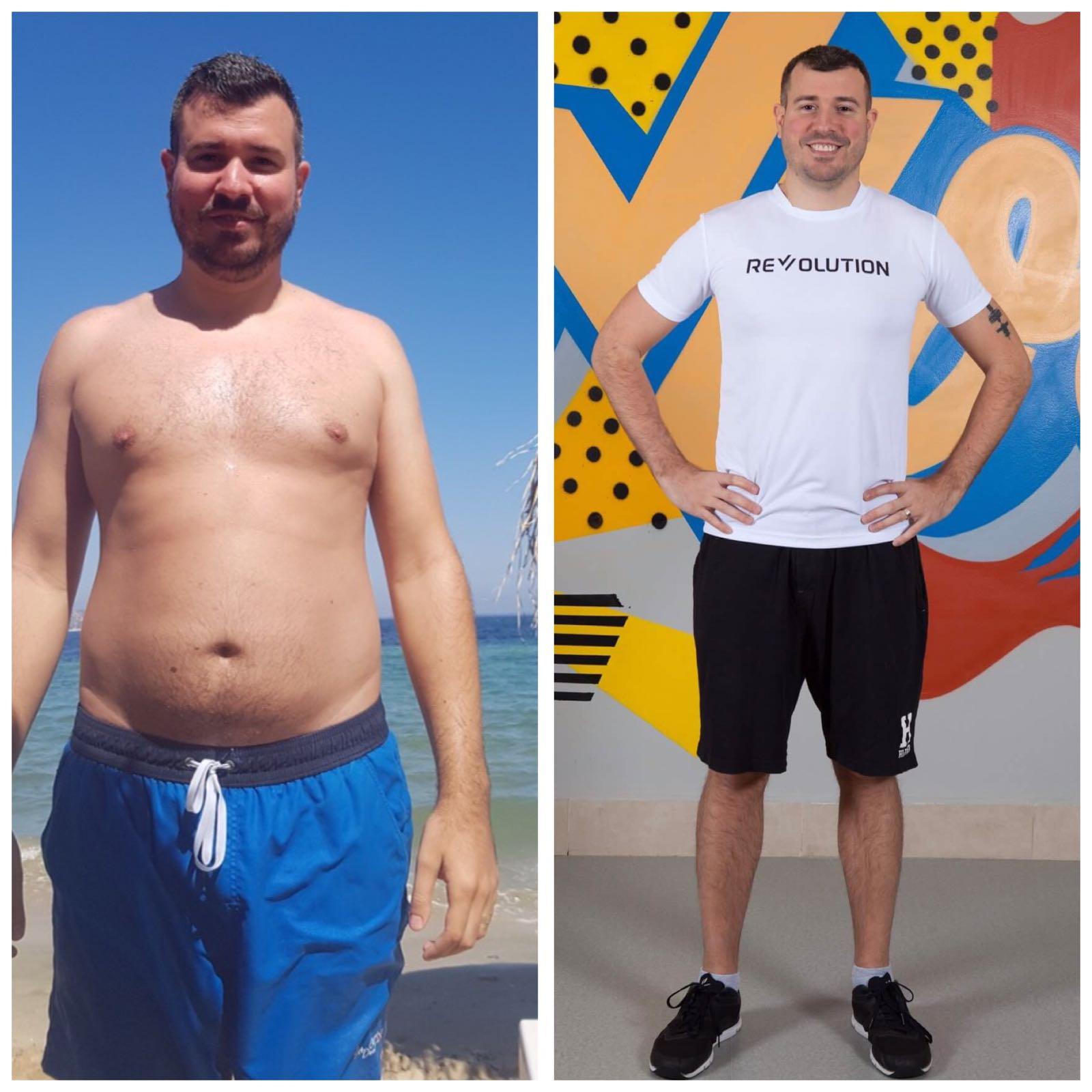 Pierdere în greutate de 34 kg